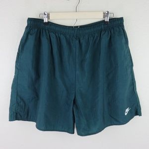 Nike Green Vintage Lined Swim Trunk Shorts